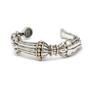 Lagos Sterling & Gold Cuff Bracelet